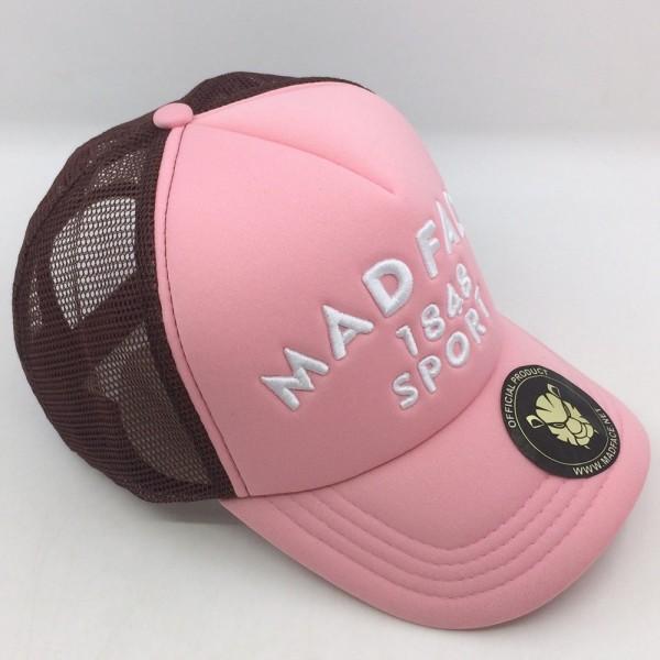 Trucker-Kappe - brown/pink (white)