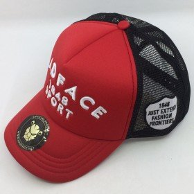 Casquette Trucker - black/red (white)