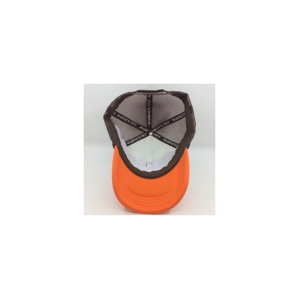 Cappellino Camionista - brown/white/orange