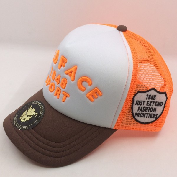 Casquette Trucker - orange/white/brown