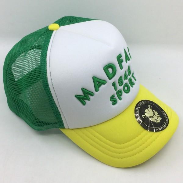 Casquette Trucker - green/white/yellow