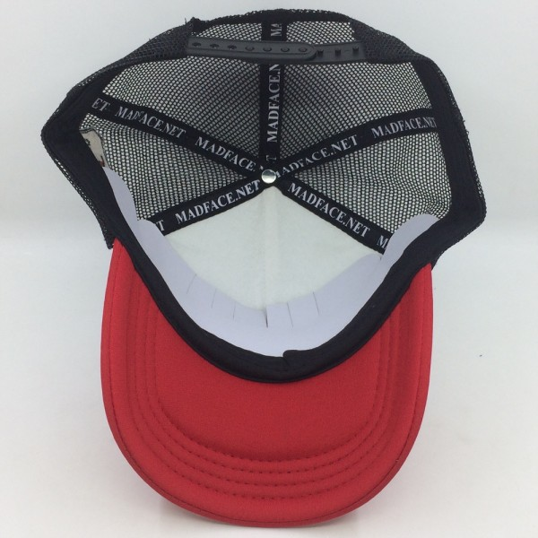 Casquette Trucker - black/white/red